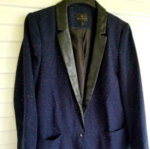 Worthington Blue Blazer with Pink and Blue Thread